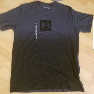 Under Armour Gray Black Ombre Gradient Tee Shirt L